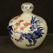 Vase Chinese In Painted Ceramic Cup Oriental Antique Style 900 Object