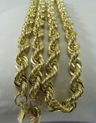 Solid 14k Gold Heavy Diamond Cut Rope Necklace 20x 4mm  Save 3,000 1465