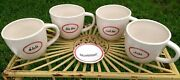 Rae Dunn Retired Boutique French Redline Mugs And Tea Dish