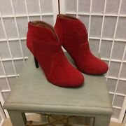 Gomax Woman Red Booties New Perfect During Fall Size 7
