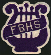 Fort Bragg High Band Fbhs _rare_ Original 40's Vtg Chenille Patch California