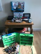 Super Mario 3d World Deluxe Wii U Console Black. + 20 Games And Starter Sets.
