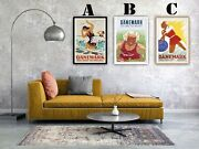 Denmark Travel Vintage Advertising Art Print Posters. Choice Of 3 Great Prints