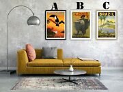South America Travel Vintage Advertising Art Print Posters. Choice Of 3 Prints