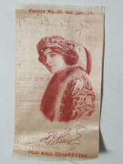 1900's Vintage Antique Promotional Silk Old Mill Cigarette Ad Actress Early Rare