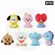 Bts Bt21 Official Authentic Goods Sitting Doll 12cm Baby Ver + Tracking Num