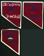 Varsity Letterman Jacket Patch Lot Original 40s Chenille All Conference Football