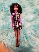Vintage Celebrity Rock Star Lace Creata Doll 1985. With Black And Purple Hair