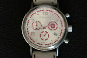 Porsche Cayenne Watch Classic Chronograph Stainless With Leather Strap A Beauty