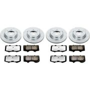 K6561-36 Powerstop Brake Disc And Pad Kits 4-wheel Set Front And Rear New