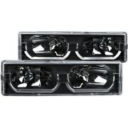111299 Anzo Headlight Lamp Driver And Passenger Side New For Chevy Suburban Lh Rh