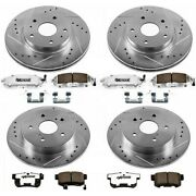 K682-26 Powerstop Brake Disc And Pad Kits 4-wheel Set Front And Rear New For Talon