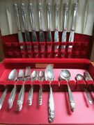 Holmes And Edwards Flatware Danish Princess Silverplate Dinner Set And Chest 63 Pcs