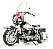 Vintage Harley Motorcycle Metal Diecast Desk Model Home Decor Toy Collectibles