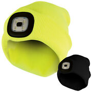 Adult / Mens Winter Warm Beanie Hat With Light Up Led Light