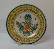 19th C. H R Quimper French Faience Salt Glaze Pottery 9 Plate 4