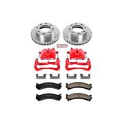 Kc2020 Powerstop Brake Disc And Caliper Kits 2-wheel Set Front For Chevy Savana