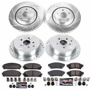 K5828 Powerstop Brake Disc And Pad Kits 4-wheel Set Front And Rear New For Sienna