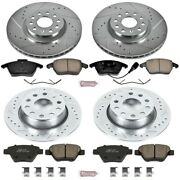 K5801 Powerstop Brake Disc And Pad Kits 4-wheel Set Front And Rear New For Vw
