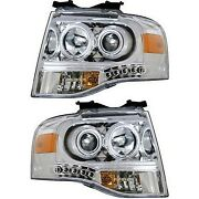 111114 Anzo Headlight Lamp Driver And Passenger Side New Lh Rh For Ford Expedition
