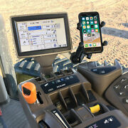 Phone Holder For A John Deere Combine Sprayer Or Tractor Easy To Install Solid