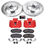 Kc1714a Powerstop 2-wheel Set Brake Disc And Caliper Kits Front For Chrysler 300