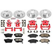 Kc2387 Powerstop 4-wheel Set Brake Disc And Caliper Kits Front And Rear For Civic