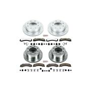 K6260-36 Powerstop Brake Disc And Pad Kits 4-wheel Set Front And Rear New For Gmc