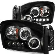 111209 Anzo Headlight Lamp Driver And Passenger Side New For Ram Truck Lh Rh 1500