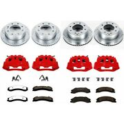 Kc2813a-36 Powerstop Brake Disc And Caliper Kits 4-wheel Set Front And Rear