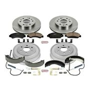 Koe15237dk Powerstop 4-wheel Set Brake Disc And Drum Kits Front And Rear New