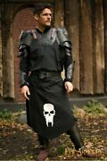 Medieval Undead Half Body Armor Set Of Pauldrons With Gorget/bracers And Leg