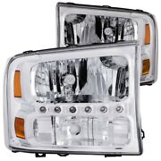 111088 Anzo Headlight Lamp Driver And Passenger Side New For F250 Truck F350 Lh Rh