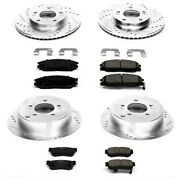 K4447 Powerstop 4-wheel Set Brake Disc And Pad Kits Front And Rear New For Hyundai