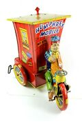 1940's Humphrey Mobile Tin Wind-up Wyandotte Toys - Michigan Early Red Base