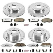 K2710-26 Powerstop 4-wheel Set Brake Disc And Pad Kits Front And Rear New For G35