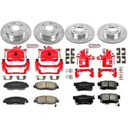 Kc2385 Powerstop 4-wheel Set Brake Disc And Caliper Kits Front And Rear Coupe