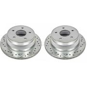 Ar8636xpr Powerstop Brake Discs 2-wheel Set Rear Driver And Passenger Side New