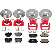 Kc2317 Powerstop 4-wheel Set Brake Disc And Caliper Kits Front And Rear For Toyota