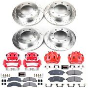 Kc1906a Powerstop 4-wheel Set Brake Disc And Caliper Kits Front And Rear For Ford