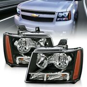 111392 Anzo Headlight Lamp Driver And Passenger Side New For Chevy Suburban Lh Rh
