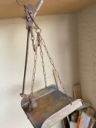 Antique Italian Butchers/meat Hanging Balance Scale