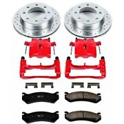 Kc2947 Powerstop 2-wheel Set Brake Disc And Caliper Kits Front For Chevy Savana