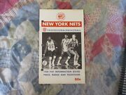 1968-69 New York Nets Media Guide Yearbook 1969 Program Press Book Aba Ad