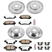 K5856-36 Powerstop 4-wheel Set Brake Disc And Pad Kits Front And Rear New For Tl