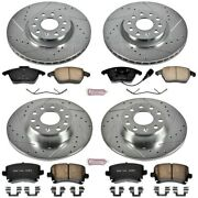 K2260 Powerstop 4-wheel Set Brake Disc And Pad Kits Front And Rear New For Vw