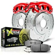 Kc3055-26 Powerstop 2-wheel Set Brake Disc And Caliper Kits Front New For Civic