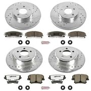 K1715-26 Powerstop Brake Disc And Pad Kits 4-wheel Set Front And Rear New For 300