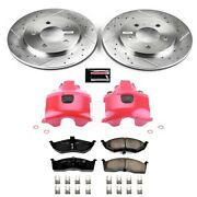Kc2140 Powerstop 2-wheel Set Brake Disc And Caliper Kits Front New For Dodge