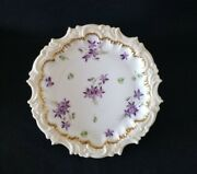Set 4 Limoges Plates Tv Limoges China Dinner Plates Hand Painted Violets 1800and039s